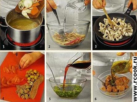 Салат с говядиной и помидорами приготовление