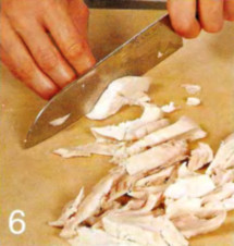 Салат из курицы и груши  приготовление