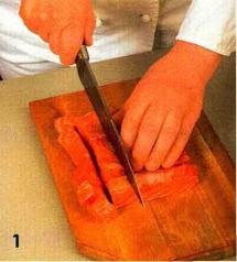 Салат-коктейль с рыбой приготовление