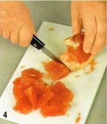Салат с куриной печенью и грейпфрутом приготовление