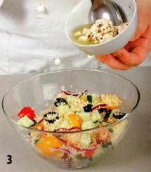 Салат с кускусом и фетой приготовление