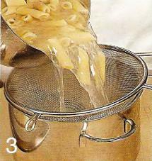 Салат с пенне под соусом песто приготовление