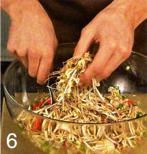 Салат с рисом в китайском стиле приготовление