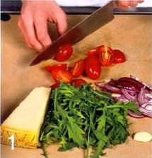 Салат с рукколой приготовление
