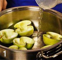 Салат в запеченных яблоках приготовление