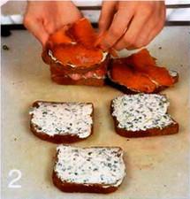 Сэндвич с семгой приготовление