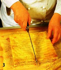 Слоеное пирожное с медовым кремом приготовление