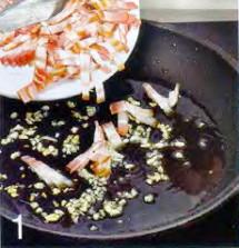Спагетти под соусом карбонара приготовление