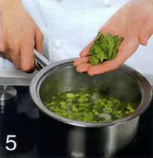 Суп из зеленого горошка с мятой приготовление