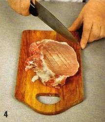 Свиная отбивная с пюре приготовление