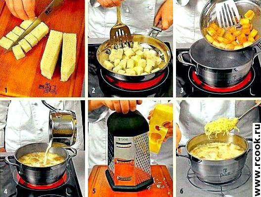 Швейцарский суп с сыром приготовление