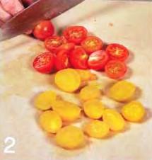 Тартинки с помидорами черри приготовление