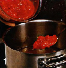 Томатный суп с яичными хлопьями приготовление