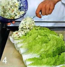 Творожный рулет из китайской капусты приготовление