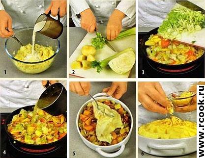 Овощи под картофельной
