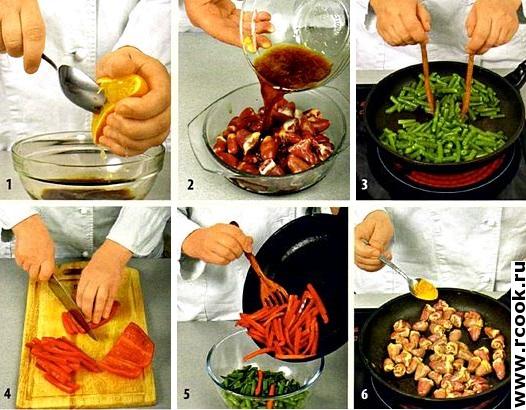 Теплый салат с куриными сердечками приготовление