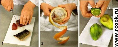 Зимний салат с копченой рыбой приготовление