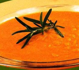 Суп-пюре овощной с имбирем