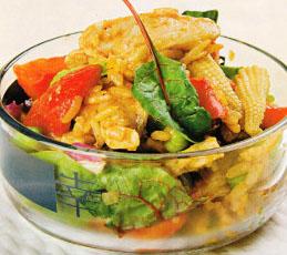 Теплый салат по-восточному
