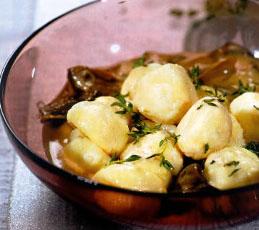 Творожные ньокки с грибным соусом