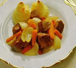 Телятина с запеченным картофельным пюре