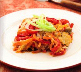Запеканка овощная с сыром. Готовим в мультиварке