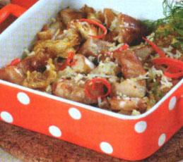 Жаркое из свинины с грушами