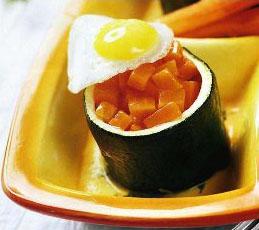 Цуккини с глазированной морковью