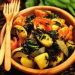 Салат с творогом и сельдереем